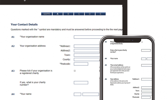 Benefactor Grants Management Application form on multiple devices