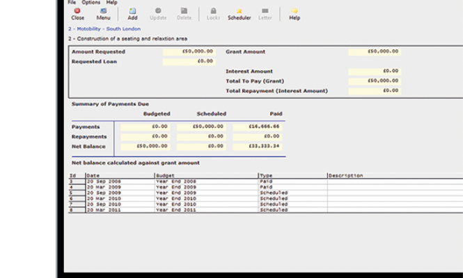 Payment tracking in Benefactor