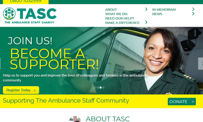 The Ambulance Staff Charity website image